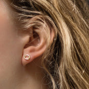 Gold Pop Stud Earrings