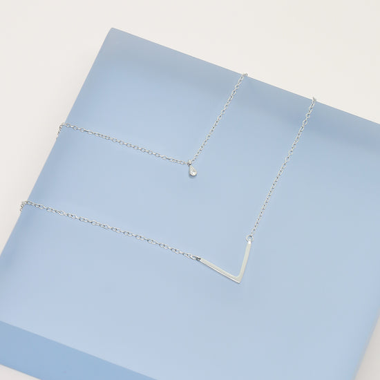 Silver Nicole Layered Necklace