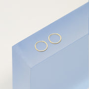 14K Gold Hoop Earrings - Mini Hoops