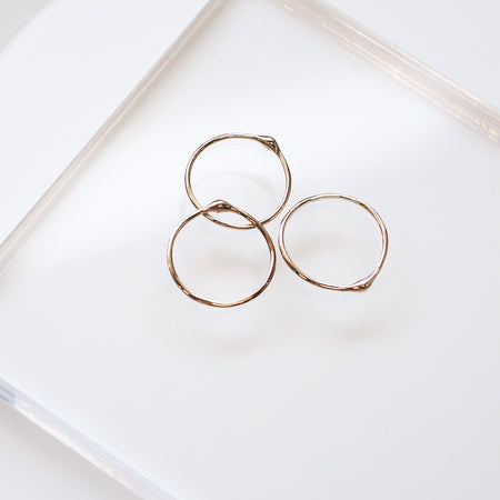 Gold Saturn Stacking Ring