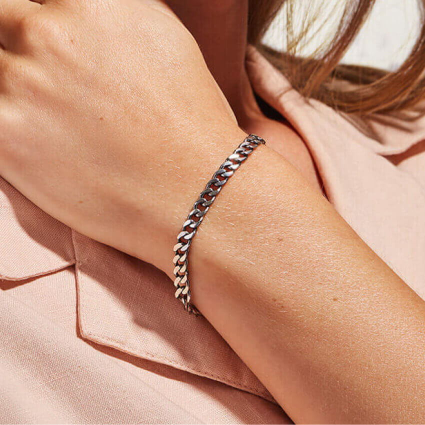 Ana Luisa Jewelry Bracelet Chain Sterling Silver Michelle Choi
