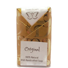 Original Honey and Oats Goats Milk Hemp  Soap in gold wrapper