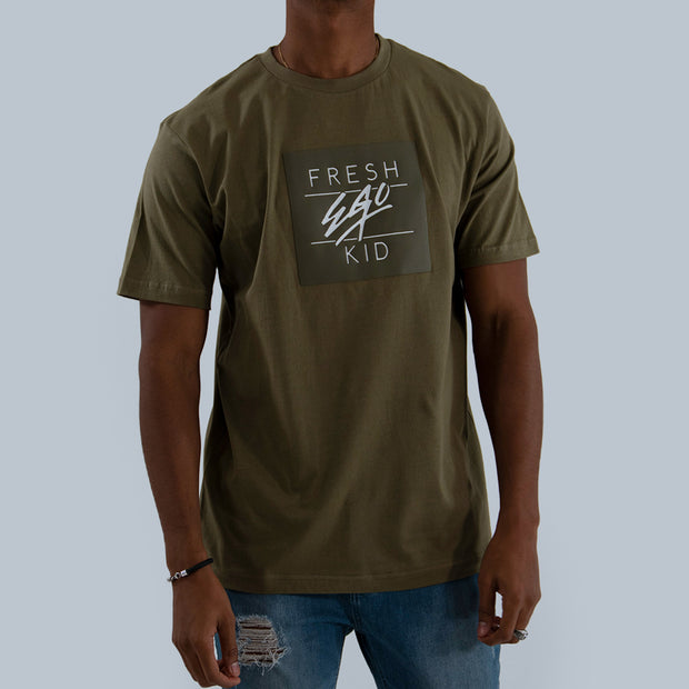 Box Logo T-Shirt – Khaki