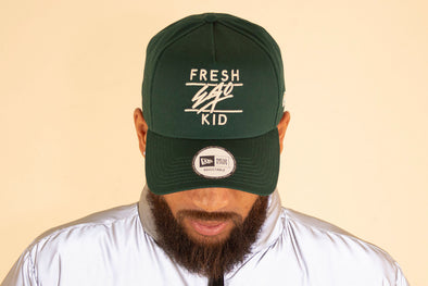 Fresh Ego Kid Bottle Green/Cream Cotton Trucker Cap
