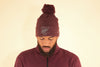 FRESH EGO KID BOBBLE HAT – MAROON