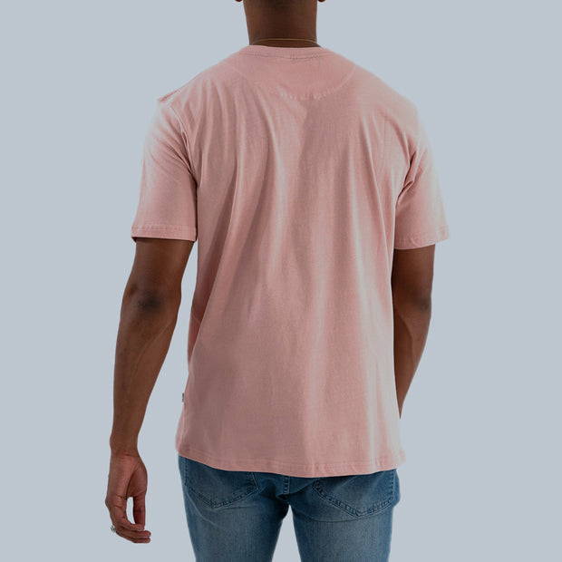 Box Logo T-Shirt - Dusty Pink/White