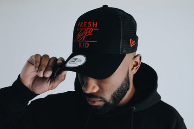 New Era Mesh Trucker - Black/Red