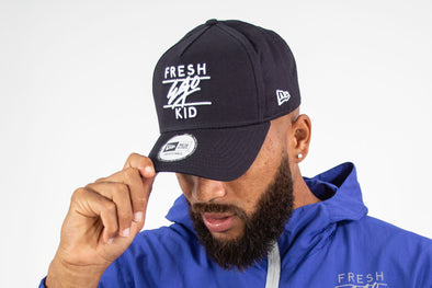 Fresh Ego Kid Navy/White Cotton Trucker Cap