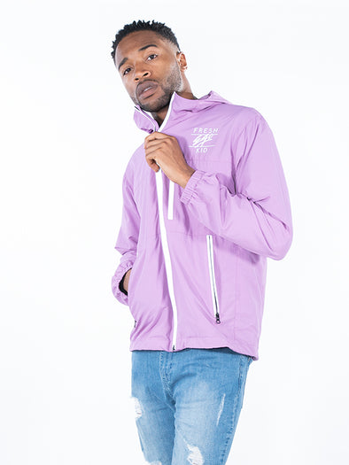 FRESH EGO KID LIGHTWEIGHT REFLECTIVE ZIP WATERPROOF JACKET (PINK)