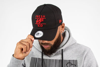 Fresh Ego Kid Black/Red Cotton Trucker Cap
