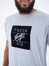 Fresh Ego Kid Heather Grey Box Logo T-Shirt