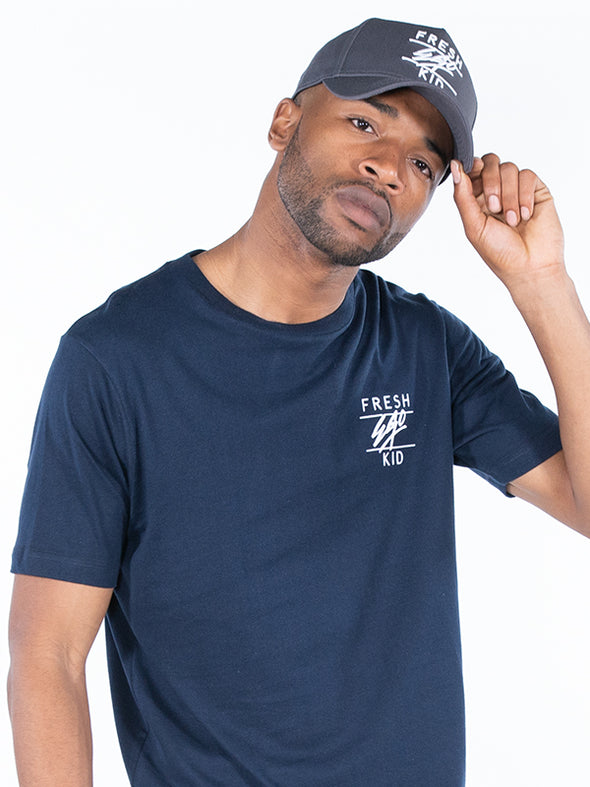 FRESH EGO KID LOGO T-SHIRT NAVY