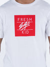 FRESH EGO KID BOX LOGO T-SHIRT WHITE