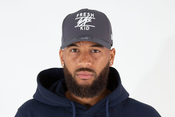 Fresh Ego Kid Grey/White Cotton Trucker Cap