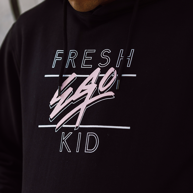 fresh ego kid Big Heritage Logo hoodie in black