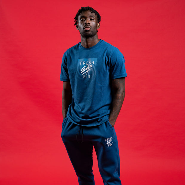 Big heritage logo tee in blue