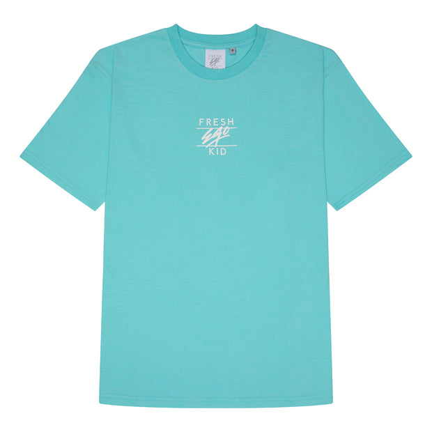 Central logo print t-shirt in mint green