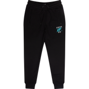 Core Joggers in Black and Turquoise