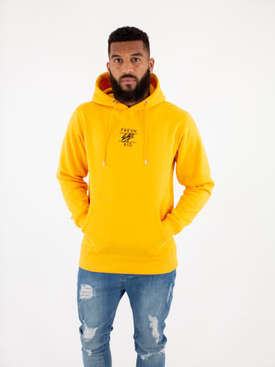 Fresh Ego Kid Yellow Central Logo Hoody