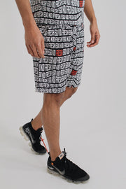 All Over Print Summer Set Shorts - Black