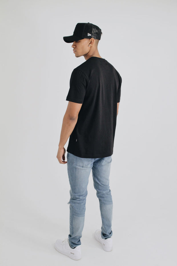 Embossed Heritage Logo T-Shirt - Black