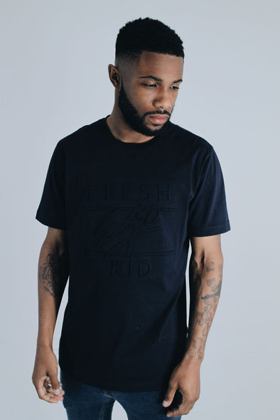 Embossed Heritage Logo T-Shirt - Navy
