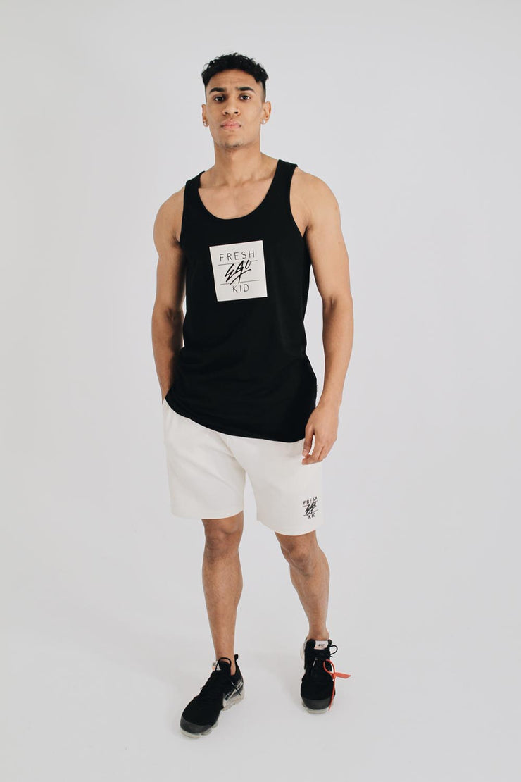 Box Logo Vest in Black & White