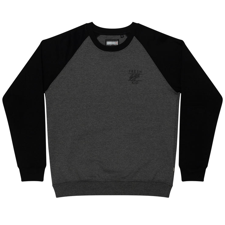 Two Tone Sweatshirt In Grey & Black