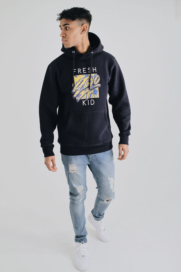 Graphic Logo Hoody - Navy