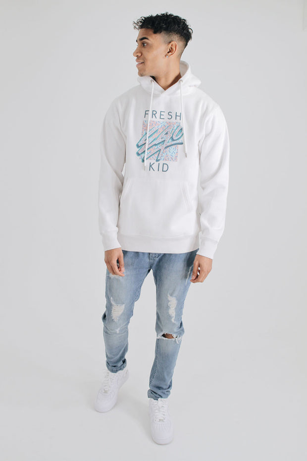 Graphic Logo Hoody - White