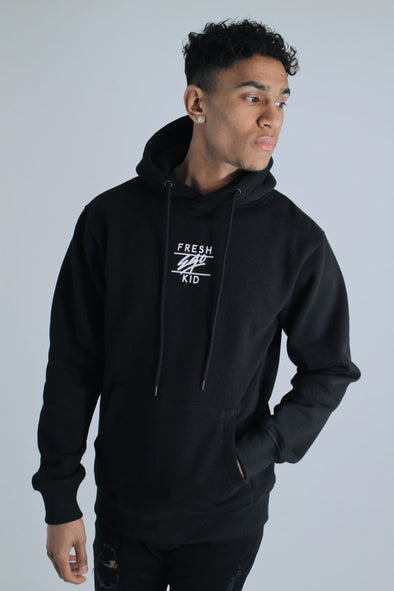 Central Logo Hoody - Black