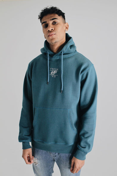Central Logo Hoody - Teal