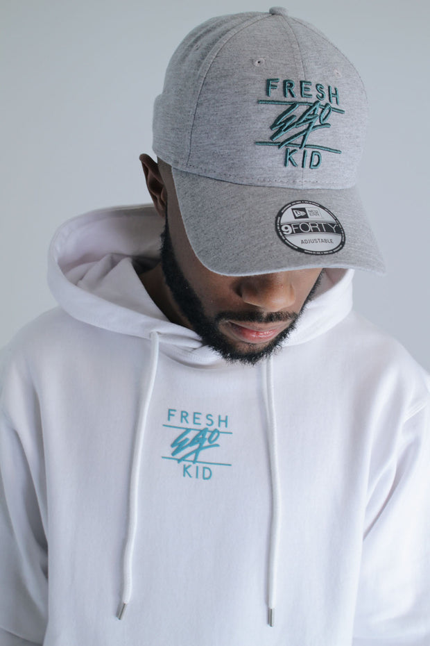 Central Logo Hoody - White