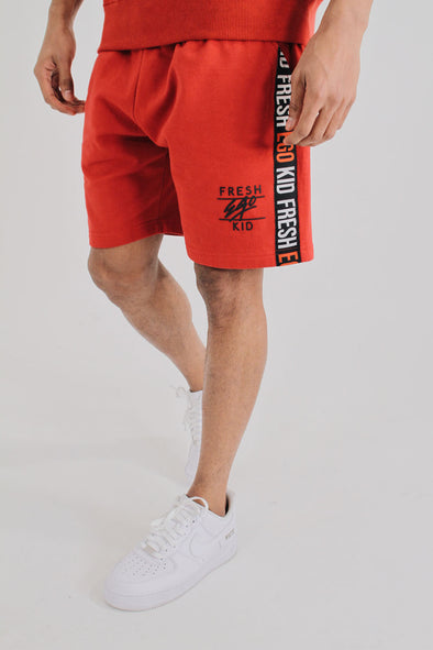 Taped Shorts - Red/White