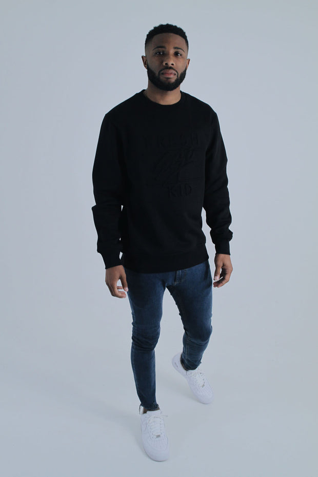 Embossed Heritage Logo Sweatshirt - Black
