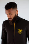 Poly Zip Up Track Top – Black/Yellow