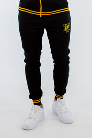 Poly Joggers – Black/Yellow