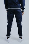 Poly Joggers – Navy/White