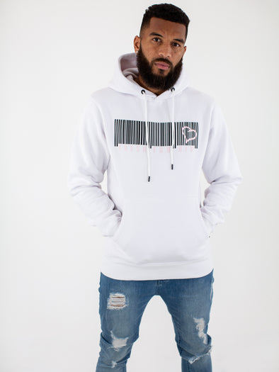 Fresh Ego Kid White/Pink Barcode Hoody