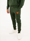Fresh Ego Kid Khaki/Orange Core Tracksuit Set