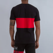 FITTED  HERITAGE LOGO T-SHIRT IN BLACK