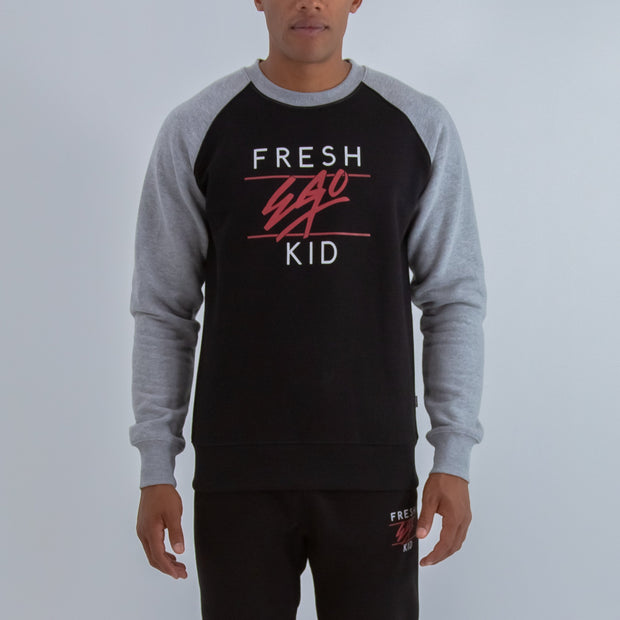 BIG HERITAGE LOGO SWEATSHIRT IN GREY