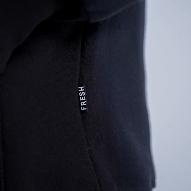 CENTRAL LOGO HOODIE IN BLACK