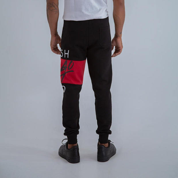 BIG HERITAGE LOGO JOGGERS IN BLACK