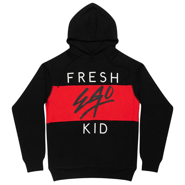 FRESH EGO KID HERITAGE LOGO HOODIE IN BLACK