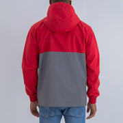 REFLECTIVE FUNNEL NECK WINDBREAKER IN RED