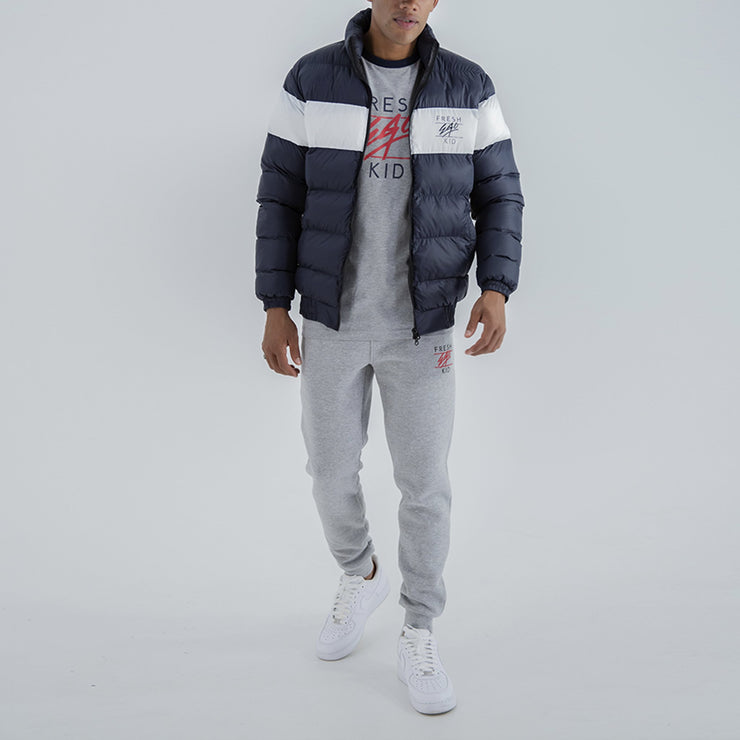 Fresh Ego Kid Colour block puffer jacket