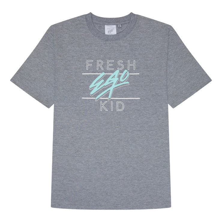 Big heritage logo t-shirt in grey marl