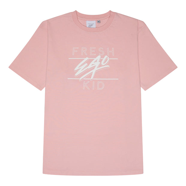 Big heritage logo t-shirt in pastel pink