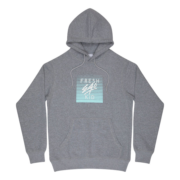 Mirage box logo hoodie in grey marl